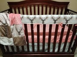 girl crib bedding tulip fawn deer skin minky white tan arrow ivory crushed minky and c deer nursery set