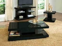 Elegant ... Living Room Coffee Table Sets Best Modern Furniture Design Black  Laminated Finish Rectangle Wooden Lower Shelf ...