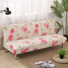 armless sofa cover 3 seater elastic