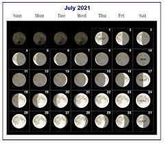 The full moon calendar for the year 2021: Moon Phases Calendar 2021 Lunar Calendar 2021