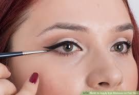 image led apply eye makeup on fair skin step 8