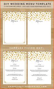 10 menu templates survey template words diy wedding menu templates gold confetti ahandcraftedwedding