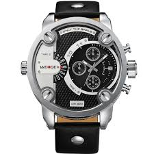 aliexpress com buy luxury weide calendar leather strap relogio aliexpress com buy luxury weide calendar leather strap relogio masculino 6 hands chronograph big face watches for men sport military watch from reliable