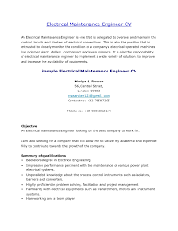 Resume Format For Maintenance Engineer Mechanical Maintenance
