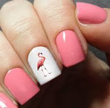 Flamingo Nail Art Decals – Moon Sugar Decals