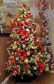 Dark Red Gold And Silver Tree  I Have Issues  Pinterest Red Silver And White Christmas Tree