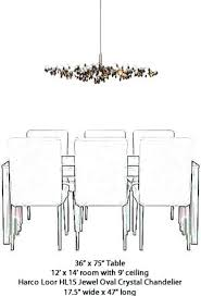 chandelier size over round table size