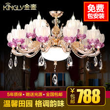 get ations majestic lighting luxury crystal candle chandelier lamp living room european living room chandelier dining zinc alloy