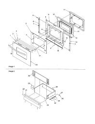 Arg7600ww amana arg7600ww timer clock erc oven door and storage door parts diagram