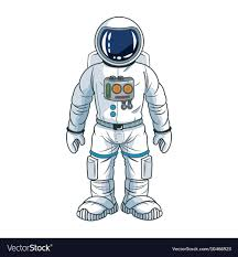 Astronaut Character Design Astronaut Space Cartoon Design