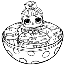 Lol Surprise Dolls Coloring Pages Printable Coloring Free Printable