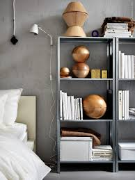 A chic 42 spm apartment in Sweden. ScandinavianShelfieBedroom DesignsSweden Ikea Lack ShelvesLack ...
