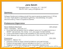 Resume Summary Samples Fascinating Samples Of Resume Summary Sample Profile For Examples Customer