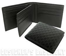 gucci wallet for men. gucci mens black micro guccissima removable id window insert wallet nib authentc gucci for men