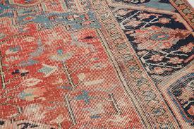 worn authentic antique heriz persian rug circa 1900 for 5
