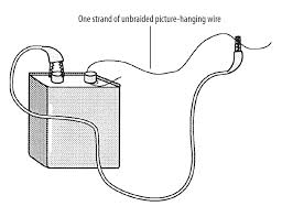 short circuit physics electricity science activity attach the other end of the clip lead to the other end of the steel wire placing the clip as far from the terminal as possible click diagram below to