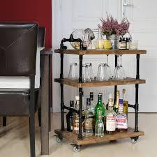 diy pipe bar cart