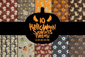 Check out this fantastic collection of halloween landscape wallpapers, with 65 halloween a collection of the top 65 halloween landscape wallpapers and backgrounds available for download. Halloween Seamless Pattern For You Party Graphic By Bayu Baluwarta Creative Fabrica