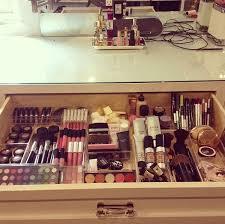 ... Drawer design, Cream Rectangle Modern Wooden Makeup Drawer Organizer  With Lipstic Ans Powder Ideas: ...
