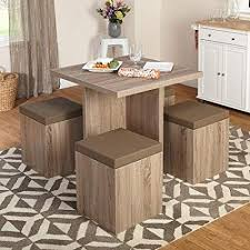 5 piece baxter dining set with storage ottoman