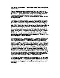 what are the dramatic effects of flashbacks in the play death of page 1 zoom in