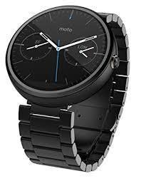 motorola smartwatch. motorola moto 360 1.56-inch smartwatch for android - dark metal (1st generation) e