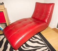 permalink to new red leather chaise