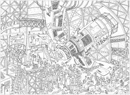 Coloring Pages Complex Telescope Unclassifiable Coloring Pages