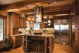 kitchen open floor plan log cabin homes