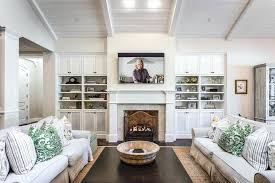 high ceiling shelves fireplace shelves decorating ideas family room traditional with high ceilings high ceilings high