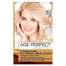 L Oreal Excellence Age Perfect Colour Chart Excellence Age Perfect 10 13 V Light Ivory Blonde Hair Dye