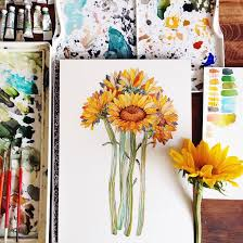 vibrant watercolor paintings celebrate the small details found in nature