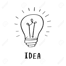 Light Bulb Word Art Illustration With Doodle Hand Drawn Light Bulb And Word Idea