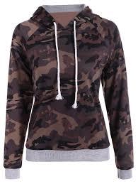 Hoodies Camouflage Color L Paneled Camo Print Hoodie Gamiss