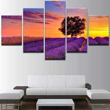 sunset lavender print split canvas wall art paintings purple 1pc 12 31  on lavender sunset wall art with 2018 sunset lavender print split canvas wall art paintings purple pc