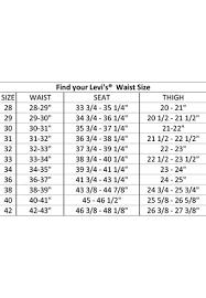 Levi Waist Size Chart Mens Pants Size Chart Conversion