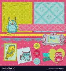 How To Design A Scrapbook Scrapbook Design Elements Little Owls