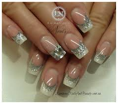 acrylic nail designs with glitter