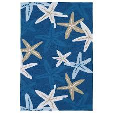 7 x 9 large starfish blue indoor outdoor rug matira
