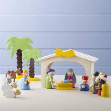 wooden children s nativity set zoom