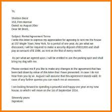 sample rental agreement letter 8 rental agreement letter gin education