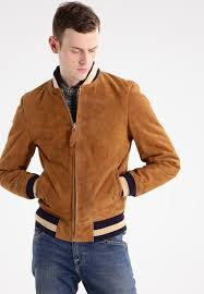 schott nyc er jacket rust brique men clothing jackets leather light brown