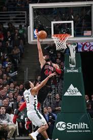 nikola mirotic dunk.  Dunk Nikola Mirotic Of The Chicago Bulls Dunks Against Milwaukee Bucks On  Tuesday In Milwaukee Wisconsin Photo VCG On Dunk 2