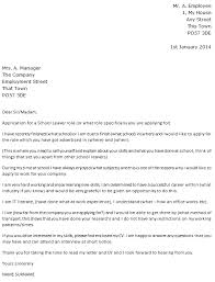 school leaver cover letter