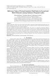 Pdf Reference Value Of Normal Amniotic Fluid Index In