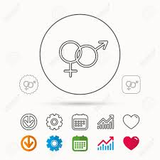 Male And Female Icon Traditional Sexuality Sign Calendar Graph