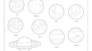 Solar System Color Pages With Solar System Colouring Page Solar