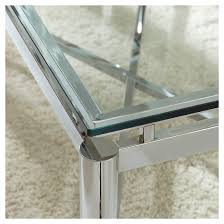 Nora Console Table   Chrome/Glass   Steve Silver