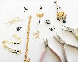 diy material for making fancy evening earrings