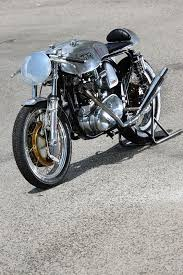 the immaculate lines of the classic english triton motorcycle